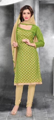 Embroidered Straight Cut Suit:atisundar Superb Green Designer Straight Cut Embroidered Suits - 8741 - atisundar - 1 - click to zoom