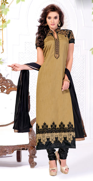 Designer Straight Cut:atisundar Beautiful Brown Designer Straight Cut  - 8447 - click to zoom