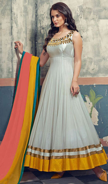 Designer Anarkali Suits:atisundar excellent Grey Anarkali - 9847 - atisundar - 1 - click to zoom