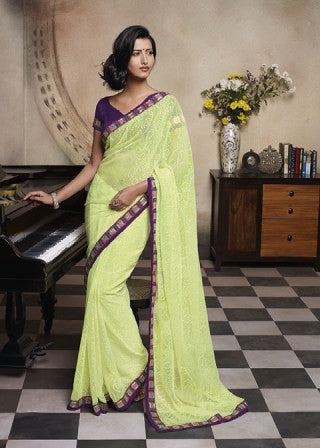 Florence:atisundar Gorgeous Lemon Colored Saree - 4272 - atisundar - 1 - click to zoom