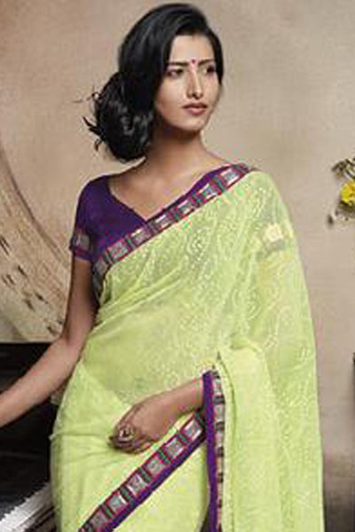 Florence:atisundar Gorgeous Lemon Colored Saree - 4272 - click to zoom