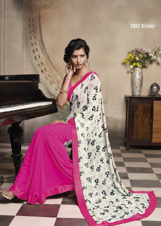 Florence:atisundar Pretty Pink Colored Saree - 4275 - atisundar - 2 - click to zoom