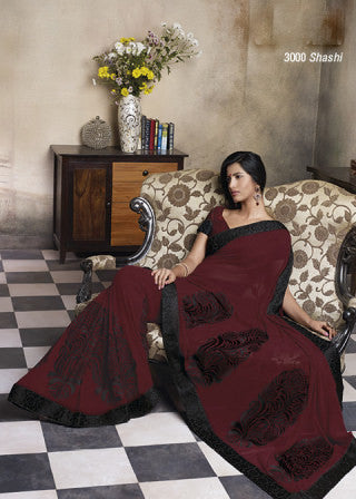 Florence:atisundar Smart Maroon Colored Saree - 4283 - atisundar - 1 - click to zoom