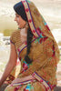 Kabiree:atisundar   cute Printed Designer Saree with Border in Sandy Brown  - 4503 - click to zoom