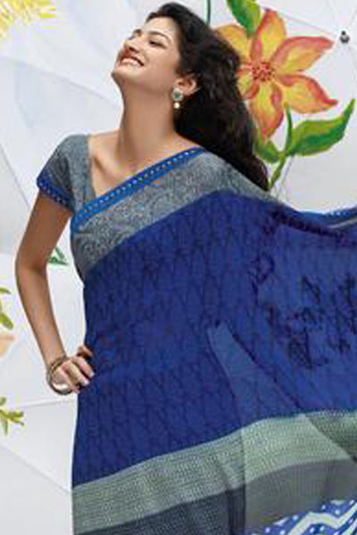 Jhoomta Sawan Designer Printed Saree Collection:atisundar   splendid Designer Printed Saree in Royal Blue  - 5325 - atisundar - 4 - click to zoom