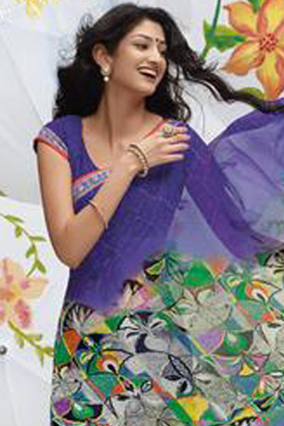Jhoomta Sawan Designer Printed Saree Collection:atisundar   delightful Designer Printed Saree in Violet & Multi  - 5339 - atisundar - 4 - click to zoom