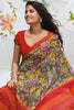 "Jhoomta Sawan Designer Printed Saree Collection:atisundar   Charismatic Designer Printed Saree in ""Orange  - 5342 - atisundar - 4 - click to zoom"