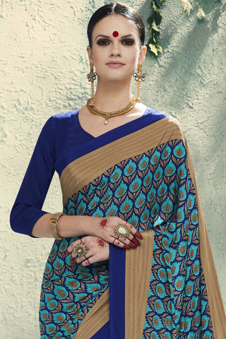 Designer Saree:atisundar Smart Designer Embroidered Saree in Sky Blue  - 10409 - atisundar - 2