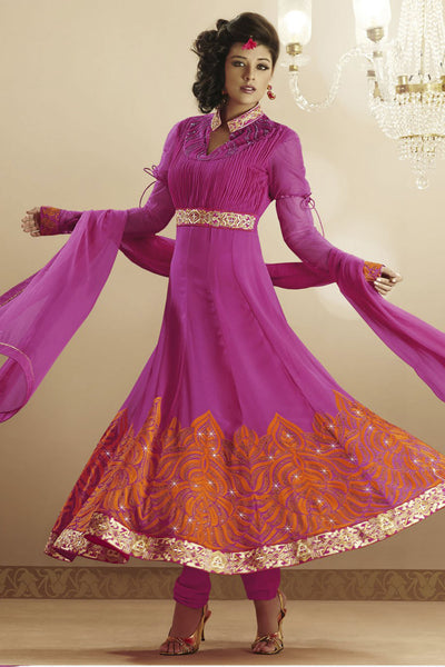 Heeba Party Wear Anarkali Featuring Aamna Sharif:atisundar ravishing   in Pink - 5109 - atisundar - 5 - click to zoom