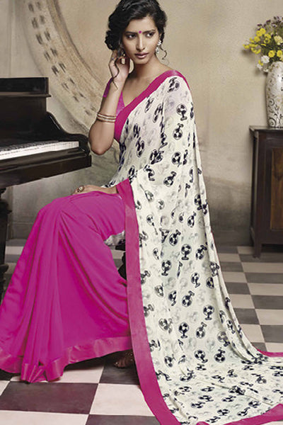 Florence:atisundar Pretty Pink Colored Saree - 4275 - atisundar - 1 - click to zoom