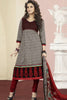 Aamna Shariff Printed Poly Cotton Anarkali:atisundar elegant Black Printed Ready to Stitch Anarkali - 6087 - atisundar - 4 - click to zoom