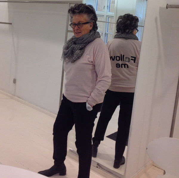 One of Denmark's unique style icons, Nadja Meyer, in Besos scarves