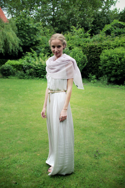 How to style a shawl with a summer dress