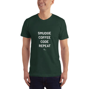 Smudge Coffee Code Repeat | Short Sleeve T-Shirt