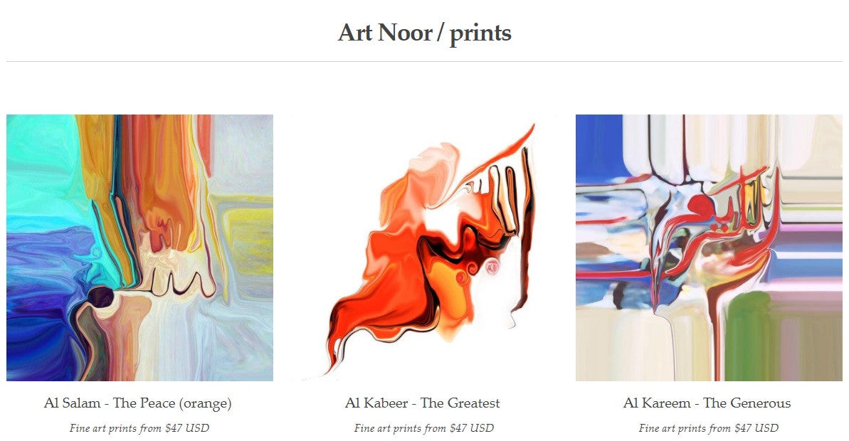 Art Noor fine art prints collection