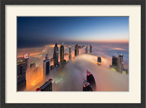 Chilly Morning in DIFC, by Daniel Cheong, framed