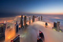 Chilly Morning in DIFC - a beatiful Dubai fog picture by Daniel Cheong