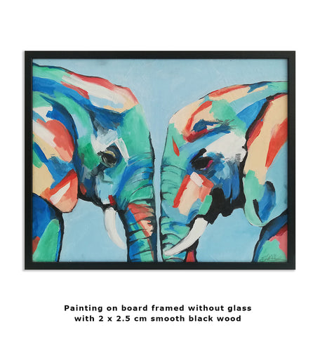 Elephants framed