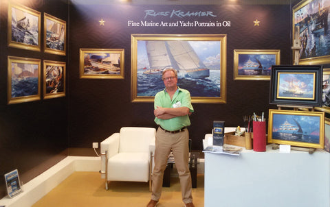 Russ at Dubai Boatshow 2018