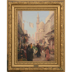 Oriental Scene, Khan El-Khalili District - MONDA Gallery