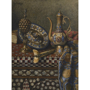 Still Life with Decorative Oriental Objects - MONDA Gallery