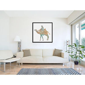 Calligraphy Camel on living room wall