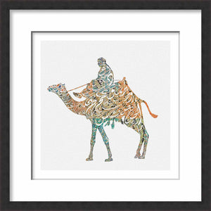 Framed Calligraphy Camel
