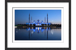 Framed A Blue Grand Mosque