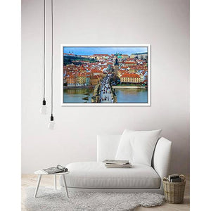 Charles Bridge on living room wall