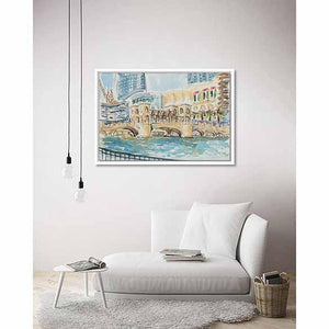 Souk al Bahar Bridge on living room wall