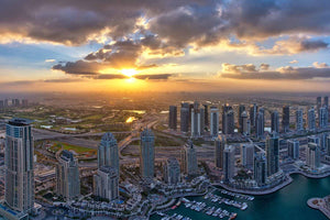 Morning Sun from Dubai Marina