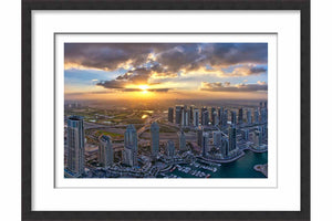 Framed Morning Sun from Dubai Marina