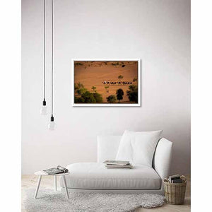 Camels in the Desert on living room wall