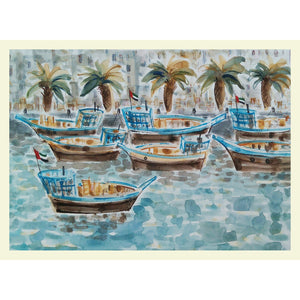 Dhows on Dubai Creek - MONDA Gallery
