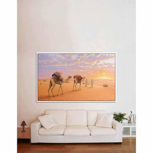 Gulf Desert Sunset on living room wall