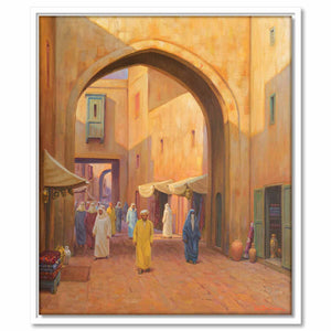 Framed Canvas Oriental Street