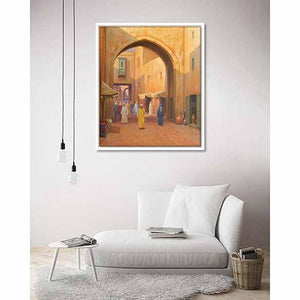 Oriental Street on living room wall
