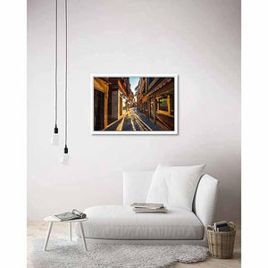 Street of Venice on living room wall