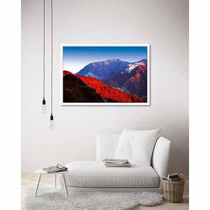 Hajar Mountains (RAK) on living room wall