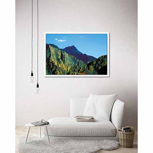 Hajar Mountains (RAK) II on living room wall