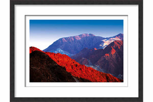 Framed Paper Hajar Mountains (RAK)