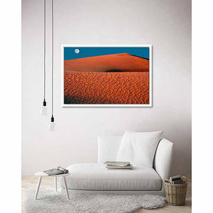 Moonrise on living room wall