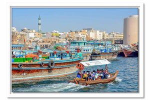Framed Canvas Dubai Creek