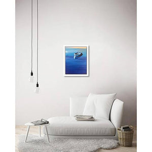 The Boat with the Blues on living room wall