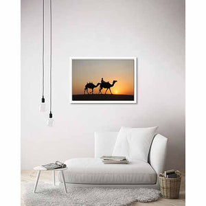 Arabian Sunset on living room wall