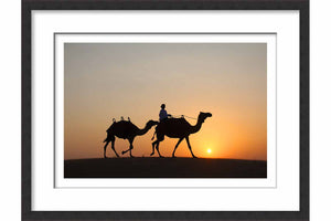 Framed Paper Arabian Sunset