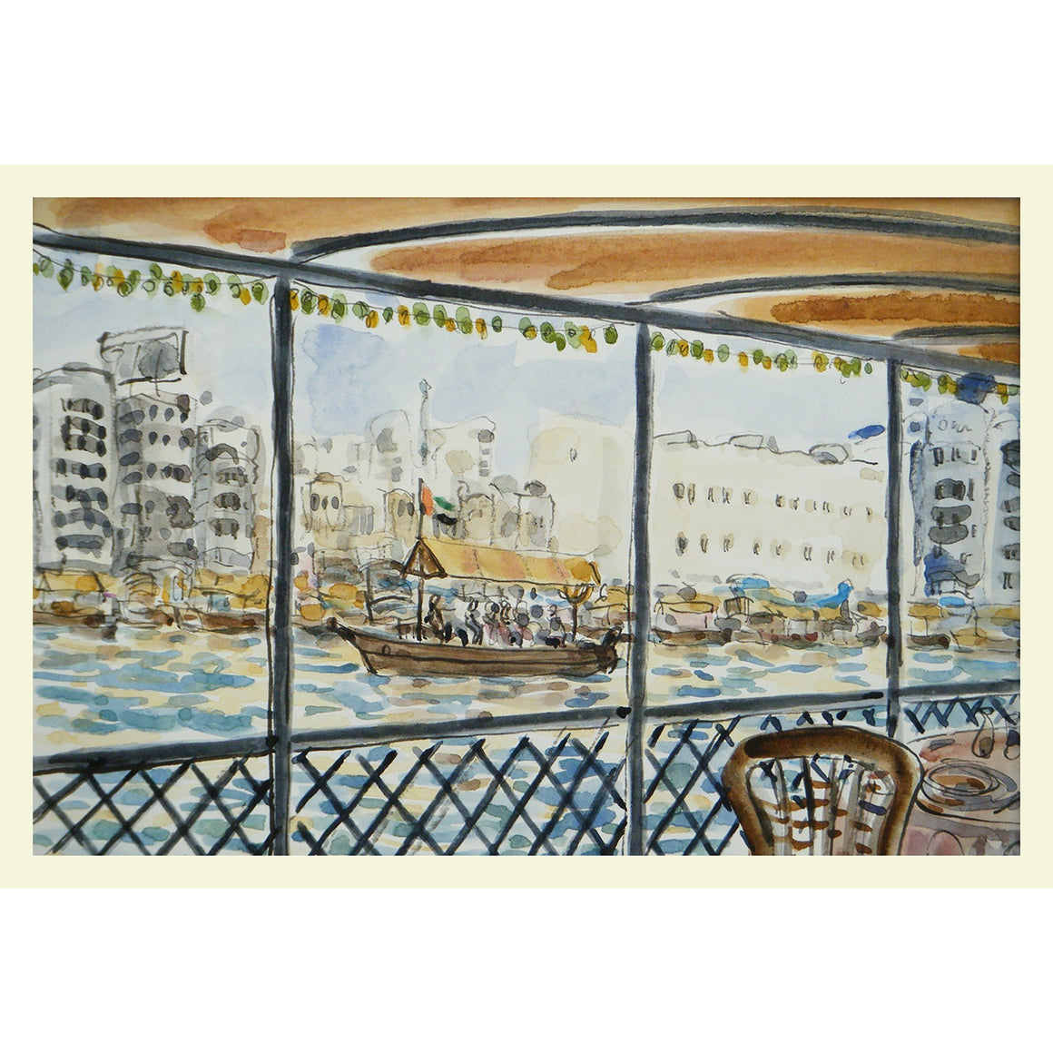 View from the restaurant, Dubai Creek - MONDA Gallery