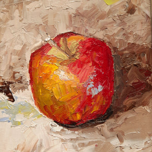 Apple by palette knife - Kate Knowles Artist