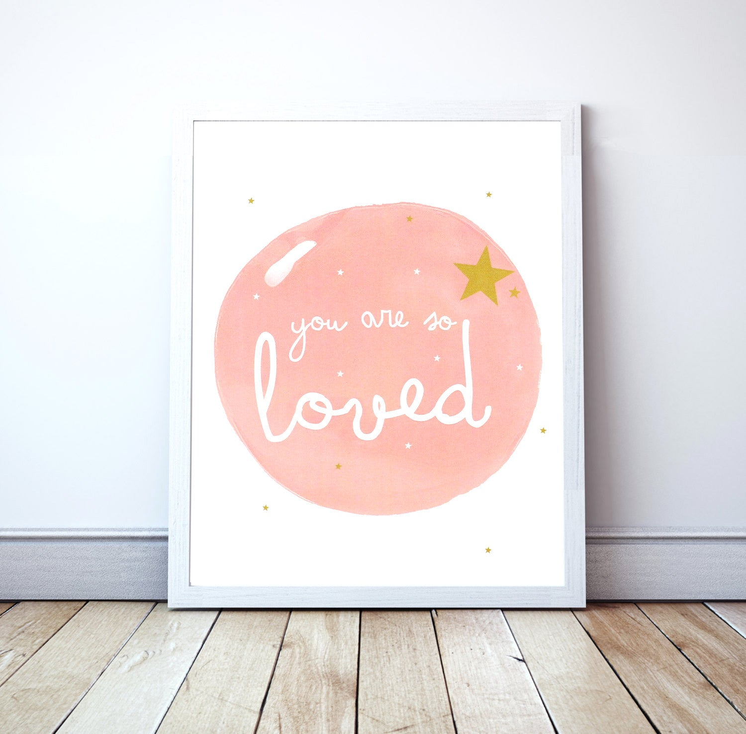"Lámina Rosa ""You are so Loved"" 50x70"