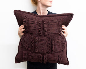 Valerie Cushion in Burgundy (Large)